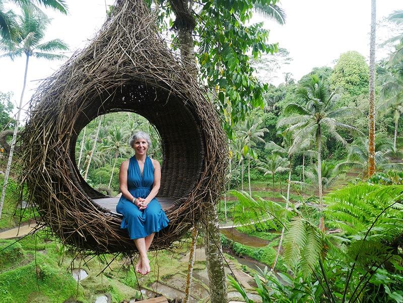 Amy on a Nest Swing Bali